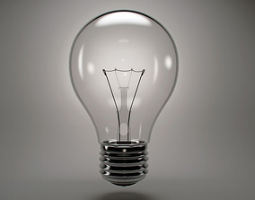 Incandescent light bulb 3D model