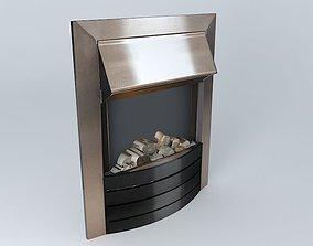 Bronze Black Electric Flame Fire 3D model