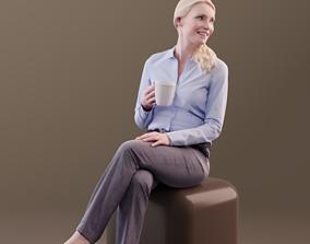 3D asset Kim 10174 - Sitting Business Woman