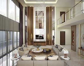3D model Livingroom Kitchen Diningroom Bedroom
