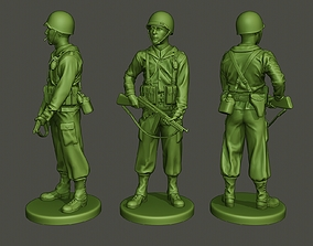 3D printable model American soldier ww2 StandGuard A2