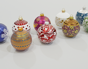 VR / AR ready Christmas Baubles - 3D