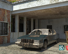 Rustic Abandoned House Residence 3D asset