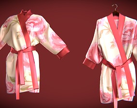 silk bath robe 3D