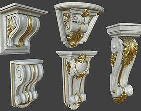3D Textured Middle Poly Corbles-Collection 2 - 5