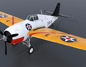 GRUMMAN F4F-3 WILDCAT VF7 - 7F3 3D rigged