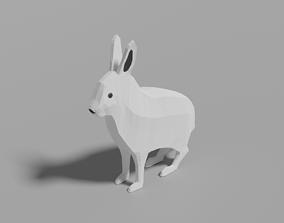 3D asset Cartoon Polar Hare