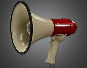 Megaphone Speaker HLW - PBR Game Ready 3D model