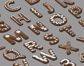 3D model Cookie Text