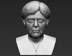 Angela Merkel bust 3D printing ready stl obj