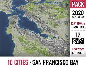 3D model San Francisco Bay - all cities