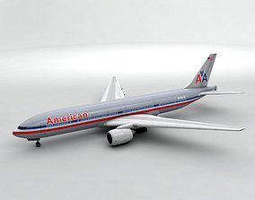 Boeing 777 Airliner - American Airlines 3D asset