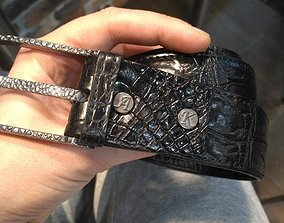 3D print model buckle crocodile texture