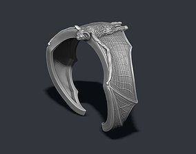 Bat ring 3D printable model fur