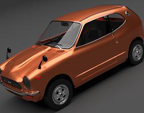 1970 Honda Z Sport Coupe 3D model antique