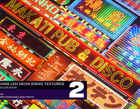 100 ASIAN LED NEON SIGNS VOL 2 3D