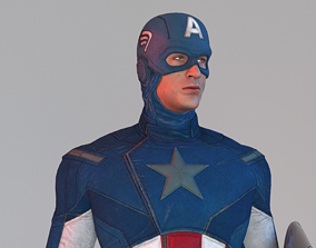 america Captain America 3D asset rigged game-ready
