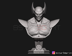 3D print model Wolverine Bust - X men - from Marvel