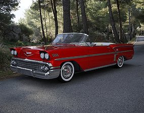 3D Chevrolet Impala Convertible 1958