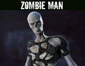 3D asset rigged game-ready Zombie Man