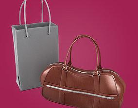 3D Woman Leather Handbags