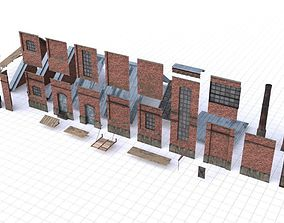 Modular Old Industrial Building Asset 3D model