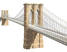 Brooklyn Bridge 3d model low-poly