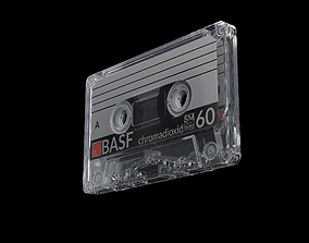 3D model Audio Cassette Tape with Box musical