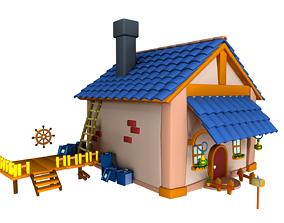 3D model Asset - Cartoons - Background - House 3dsmax