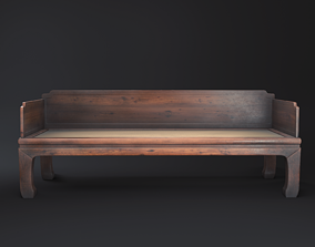 Chinese Sofa 3D asset VR / AR ready