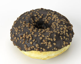 Photorealistic Chocolate Donut 3D Scan