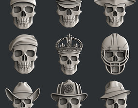 3d models for cnc router set skulls2