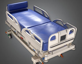 Hospital Bed HPL - PBR Game Ready 3D model