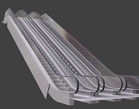 3D model bledner escalator