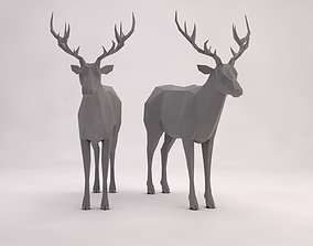 3D model ORIGAMI---Deer