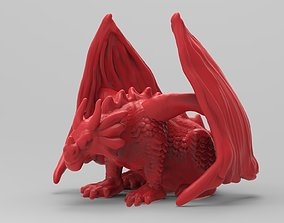 monster 3D printable model Dragon Statue