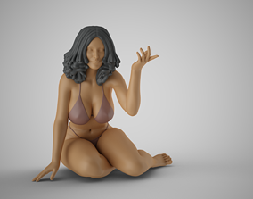 3D printable model Woman Sitting on Ground