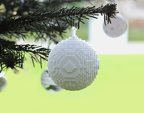 3D printed pixellated ornament