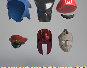 3D Helmets and masks