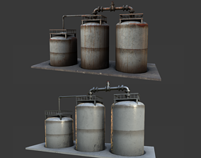 PBR Storage Tank 3D asset