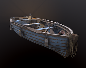 Fishing Boat with tools 3D model