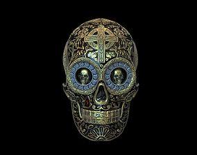 Skull chicano 3D print model