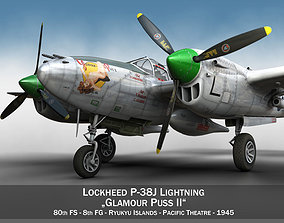 Lockheed P-38 Lightning - Glamour Puss II 3D model