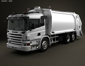 3D Scania P Garbage 3-axis 2011