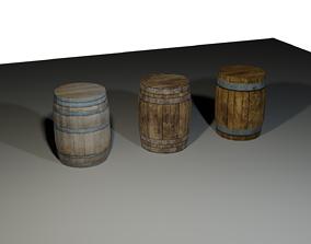 3D model Wooden Barells
