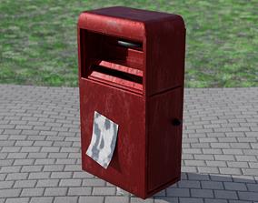 Realistic Post Box 3D asset