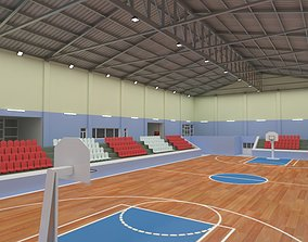 Basketball Court 3D model basketball