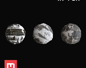 3D Snowy Rock Materials PBR 4K