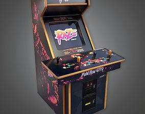 3D asset Arcade Cabinet 02 Arcades - PBR Game Ready