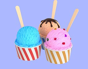 Icecream Scoop Cup 3D model